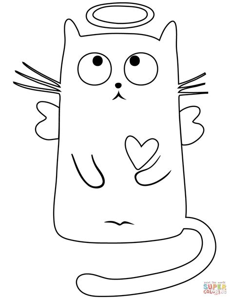 angel cat coloring page angel cat coloring page free printable coloring pages