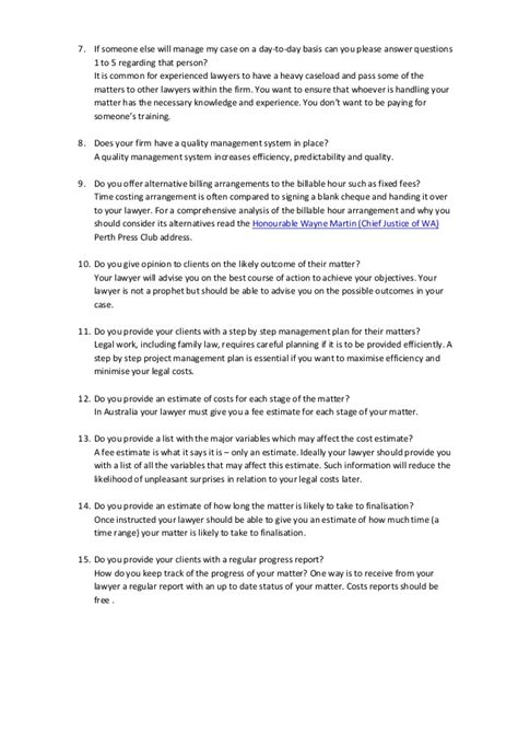 Divorce Letter From Attorney A Letter To A Family Divorce Lawyer With Questions Before Engagement