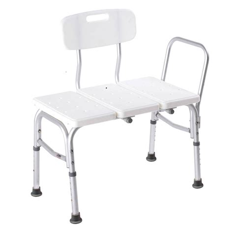 transfer bench carex adjustable bathtub transfer bench careway wellness
