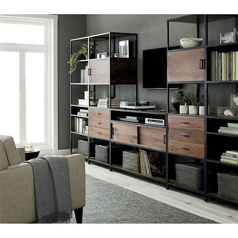 media console with bookcases media console with 2 storage bookcases media