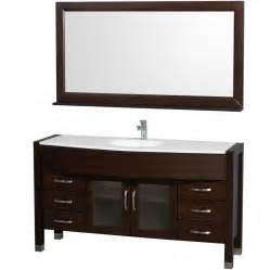 60 Single Vanity Wyndham Collection Daytona 60 Modern Single Sink Bathroom