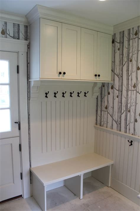 Glam Bathroom Ideas by Bench Seats Lockers Cubbies Mudroom Traditional