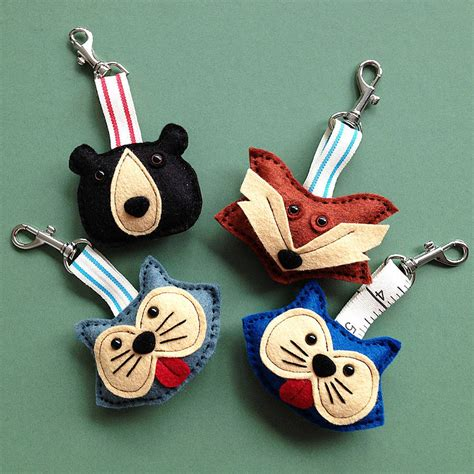 Handmade Keyring - handmade animal felt key rings by thebigforest