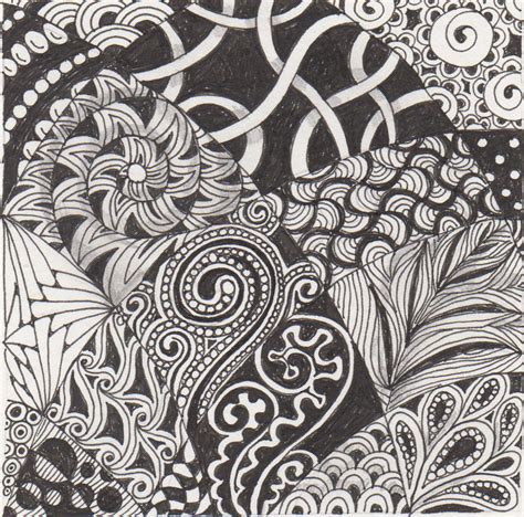zentangle design banar designs april 2011