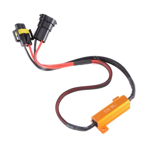 h11 led load resistor 2x h11 led canbus error free 50w 8ohm load resistor bypass wiring harness ma962