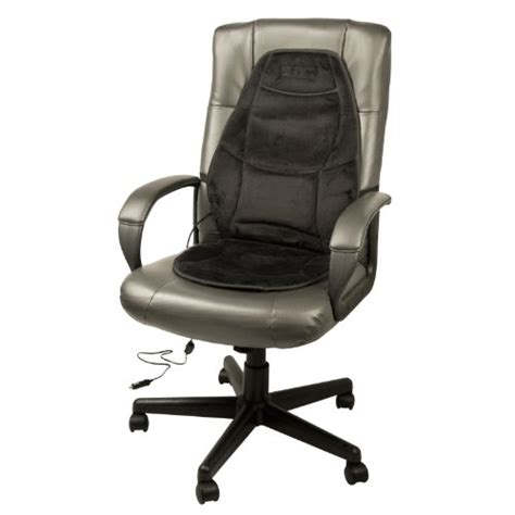 heated desk chair cover wagan in9438 12v heated seat cushion with lumbar support