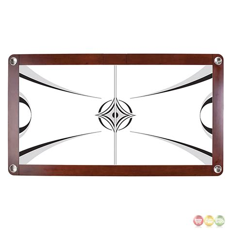 wood air hockey table monarch 7 5 ft wood air hockey table with electronic