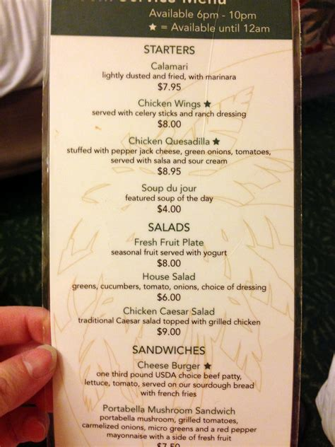 Green Room Menu by Review Shades Of Green In Room Dining