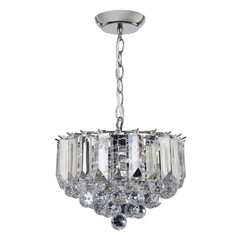 Small Pendant Lights Uk Endon Lighting Fargo 3 Light Small Ceiling Pendant In Chrome Plated Finish And Clear Acrylic