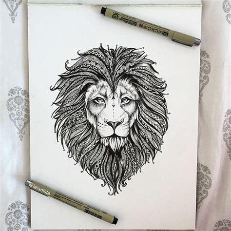 henna tattoo lion 33 best henna lion tattoo images on pinterest henna