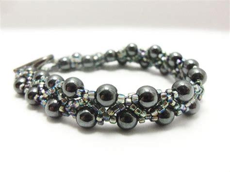 Hematite Bracelet Beaded Jewelry Beaded Bracelet