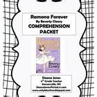 Ramona Forever Worksheets by Plain And Free Comprehensive Printable