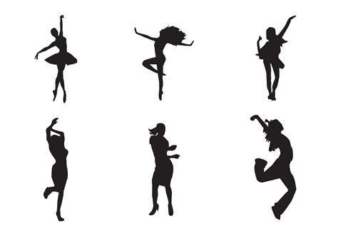 dance girl dance free vector dancing girl silhouettes download free
