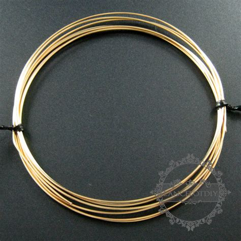 gold filled wire for jewelry 22gauge 0 64mm half gold filled high quality color