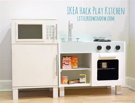 Amazon Kitchen Faucet ikea hack play kitchen fridge and microwave little red
