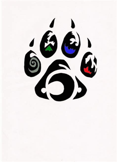 tribal paw print tattoo element wolf paw tribal by relic94 on deviantart