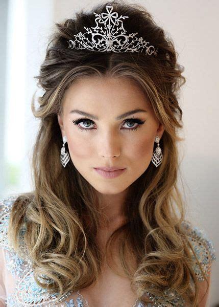 wedding hairstyles with tiara penteados para noivas cabelo solto tiara guia noiva