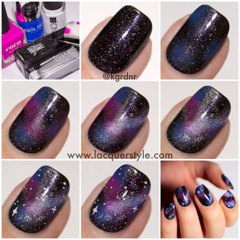 tutorial nail art galaxy galaxy nails tutorial simple realistic simple realistic