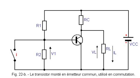 calcular resistor base de transistor resistor de base transistor 28 images emetteur 224 un seul transistor etage ec emetteur