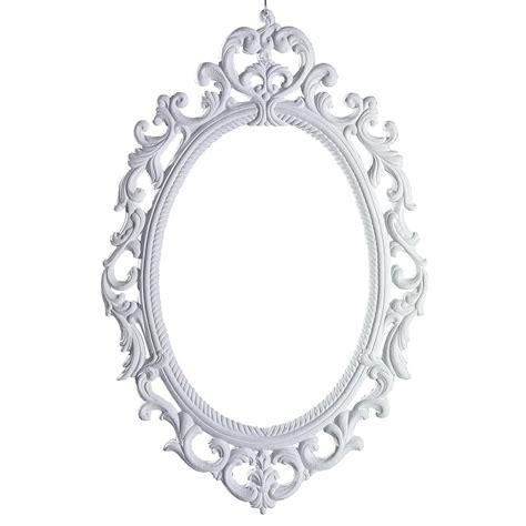 cadre baroque blanc 75 x 50 cm
