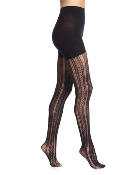 very patterned leggings spanx case in pointelle patterned tights very black
