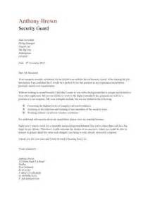 Cover Letter Security by Security Guard Cv Sle