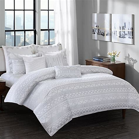 ivy comforter set ink ivy pittsburgh comforter set in grey bed bath beyond