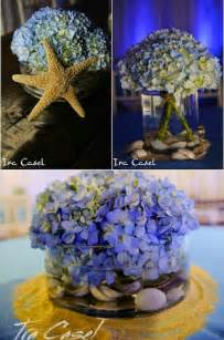Nice Wedding Toasting Flutes #5: Beach-theme-centerpieces-wedding-bar-bat-mitzvah-blue-hydrangeas-starfish-sand-sea-shells.jpg