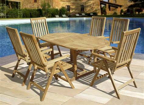 Teak Patio Furniture Ideas Teak Wood Patio Furniture Set