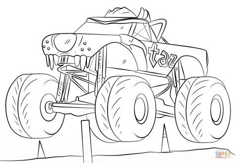 iron man monster truck coloring page dibujo de taz monster truck para colorear dibujos para