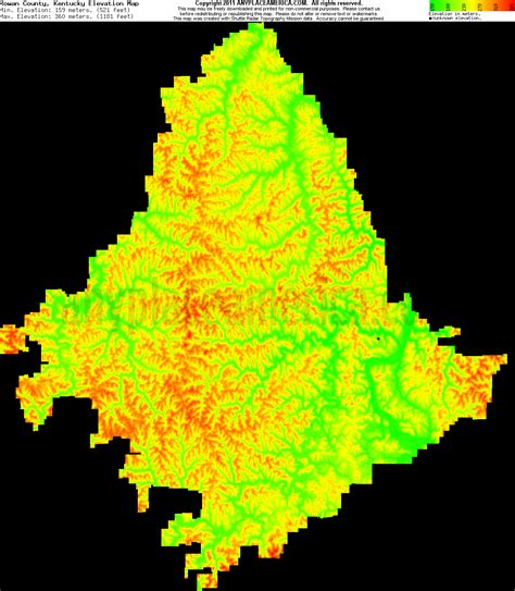 kentucky elevation map free rowan county kentucky topo maps elevations