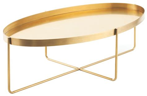 Gold Metal Coffee Table by Gaultier 54 Quot Gold Metal Coffee Table Hgde130 Nuevo
