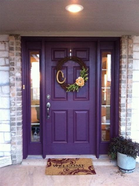 purple front door purple front door awesome wreath this is the one for so