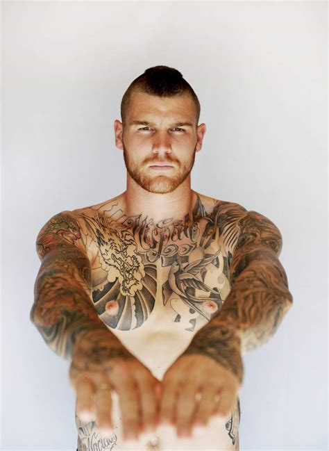 nude and tattooed crush of the day rugby player josh dugan the
