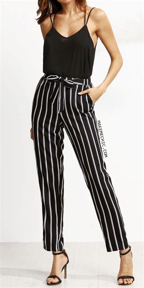 black and white pattern pants outfit best 25 stripe pants ideas on pinterest striped pants