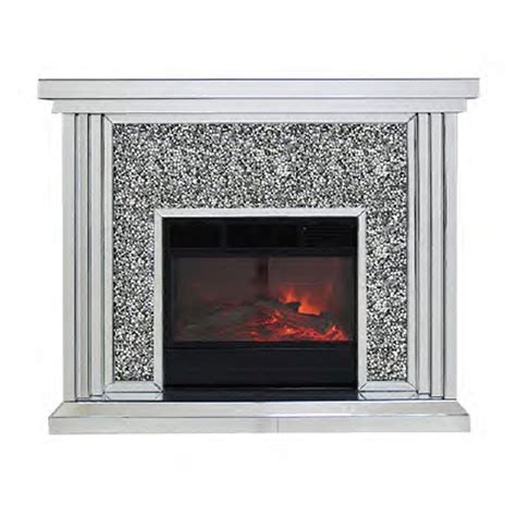 crushed diamond mirrored fire place mirrored fire place