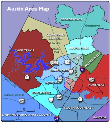 Austin District Map by Map Of Austin Txarea Submited Images