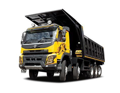 volvo dump trucks  higher productivity  gains