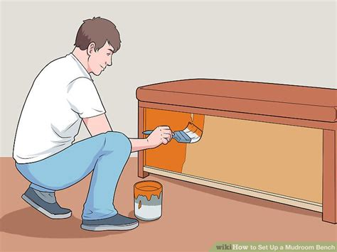 set up bench how to set up a mudroom bench 11 steps with pictures wikihow