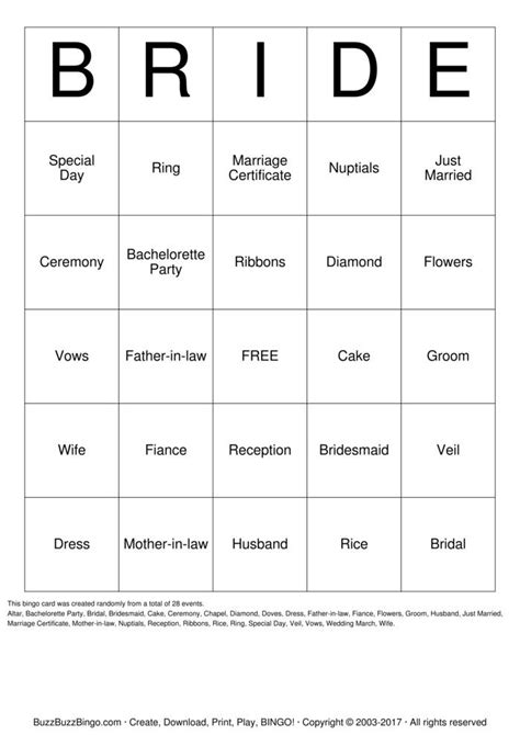 Free Printable Bridal Shower Gift Bingo Cards - free printable bridal shower bingo cards search results calendar 2015