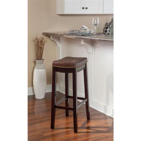 Linon Claridge Counter Stool by Linon Home Decor Claridge 24 In Brown Cushioned