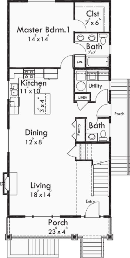 narrow lot house plans with basement the 25 best narrow house plans ideas on pinterest small