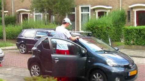 peugeot 107 roof bars time lapse mounting thule rack on aygo