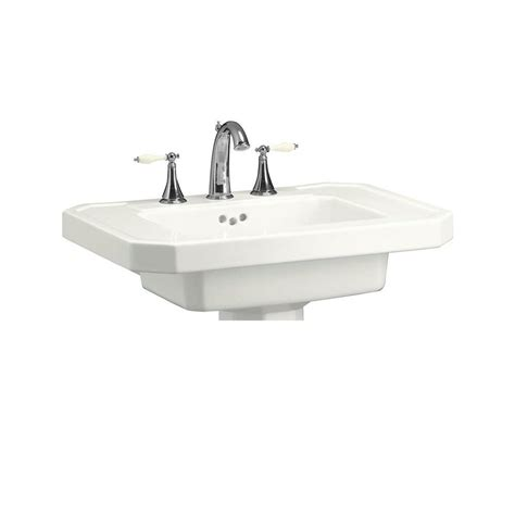 kohler kathryn sink review kohler kathryn 27 in ceramic pedestal sink basin in white