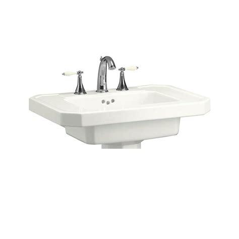 Kohler Pedastal Sink by Kohler Kathryn 27 In Ceramic Pedestal Sink Basin In White