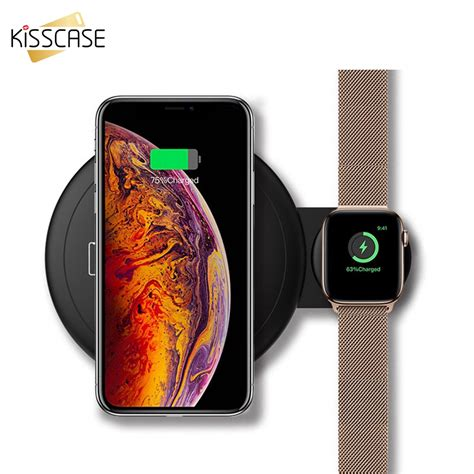 kisscase   qi wireless charger  apple      fast charger dual wireless charging