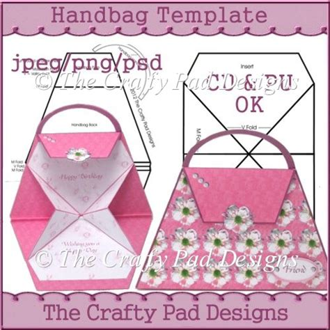 Handbag Templates For Cards by Handbag Template 163 2 58 Instant Card Downloads