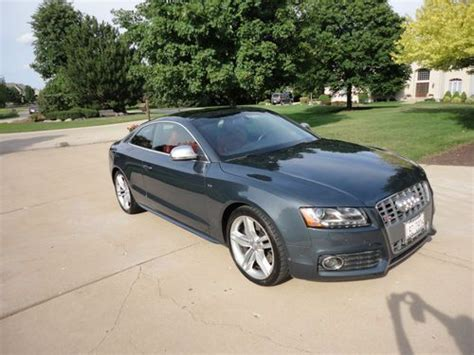 manual cars for sale 2011 audi s5 seat position control find used audi s5 4 2l v8 6 speed manual transmission magma red letaher interior in saint