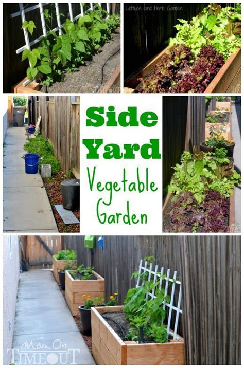 Side Yard Vegetable Garden And Diy Planter Boxes At Http Planter Box Vegetable Garden