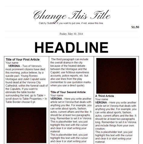 powerpoint template newspaper headlines images